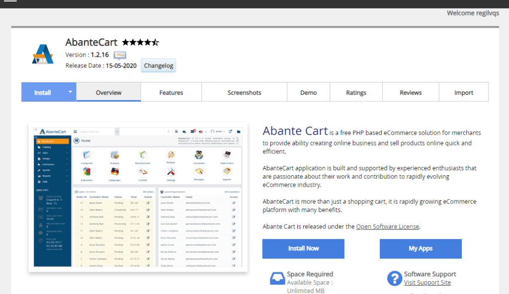 Abante cart software