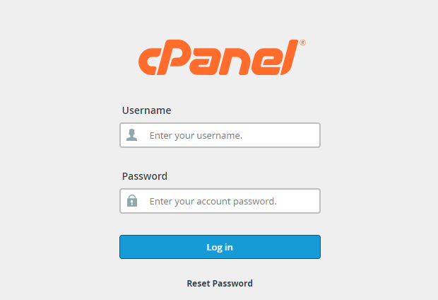 Login into Cpanel